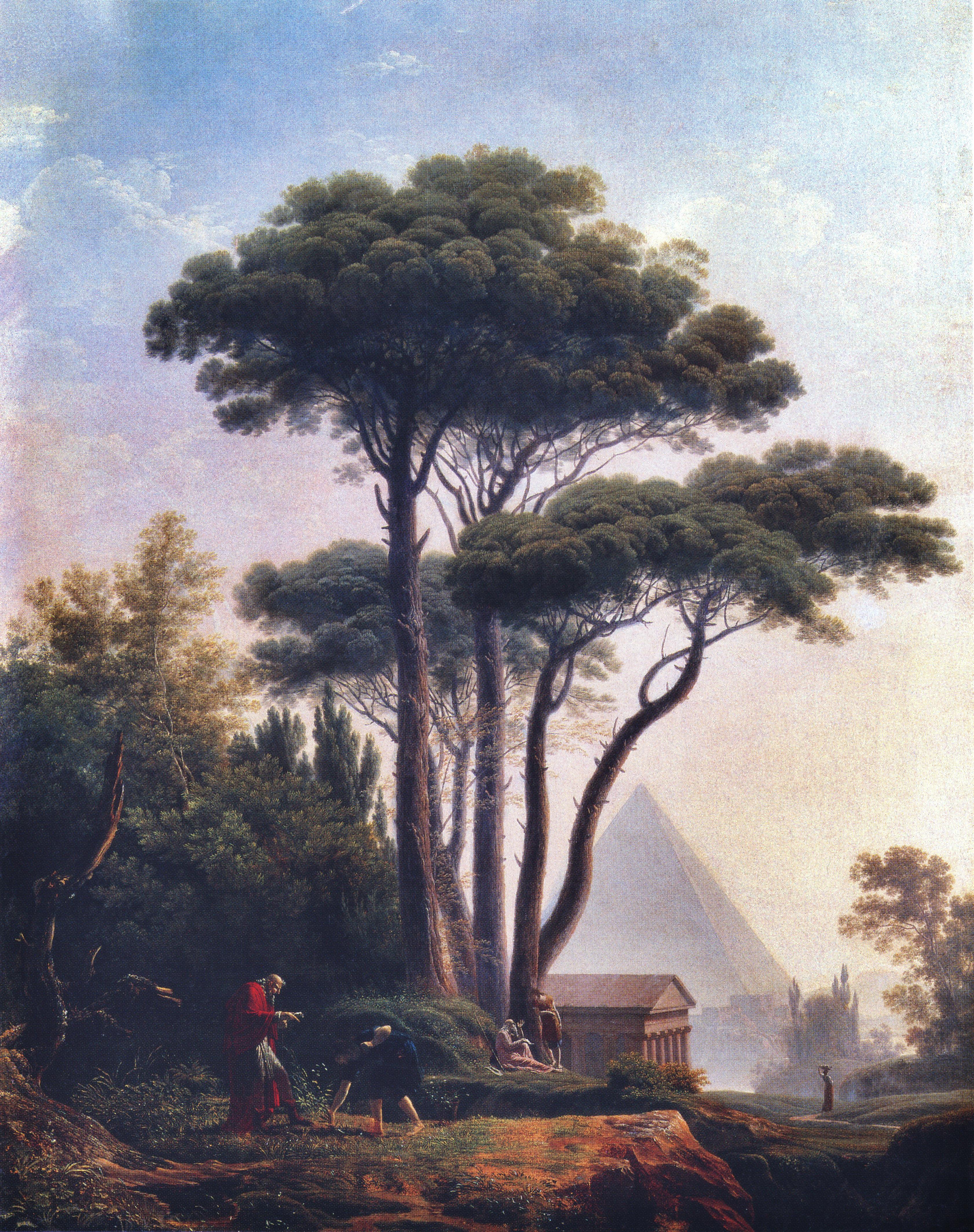 Jean-Pierre Péquignot, Paysage avec une pyramide et un temple (ou les  Aventures d6e778f969a