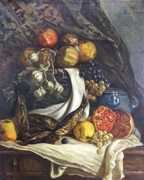 Xavier de Dananche, Nature morte aux fruits.