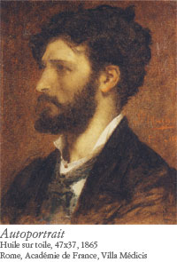 Jules Machard, Autoportrait, 1865