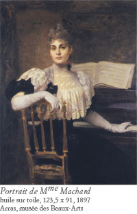 Jules Machard, portrait de madame Jules Machard, 1897