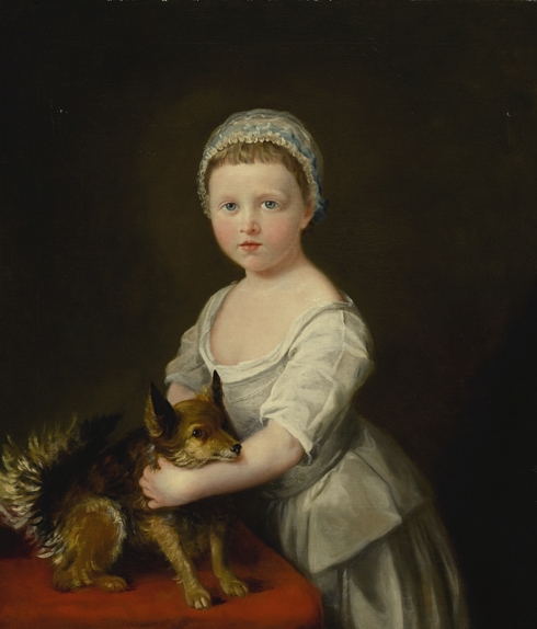 François-Xavier Vispré, portrait of Maria, later marchioness of Hereford, when a child